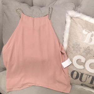 Charlotte Russe pink dressy top